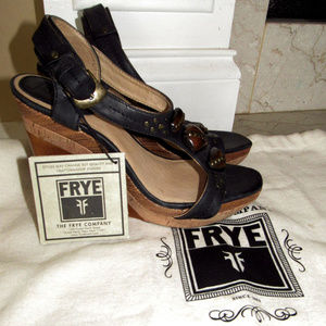Frye Wedges shoes new with tags and bag sz  9.5